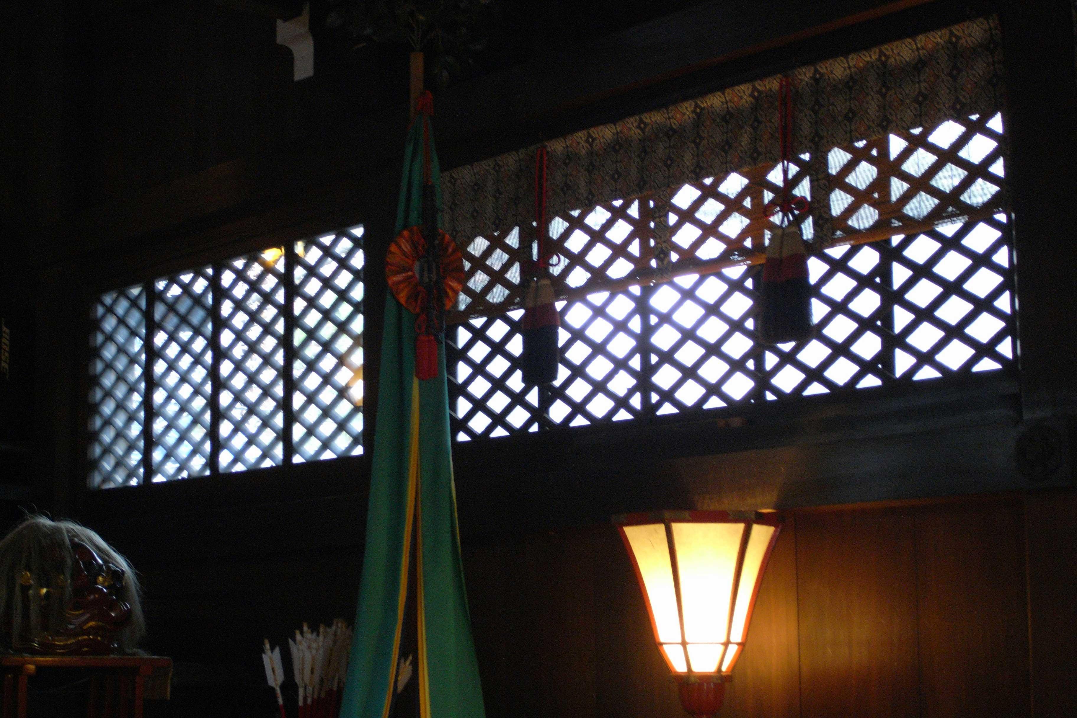 <p>内部2</p>菱格子窓