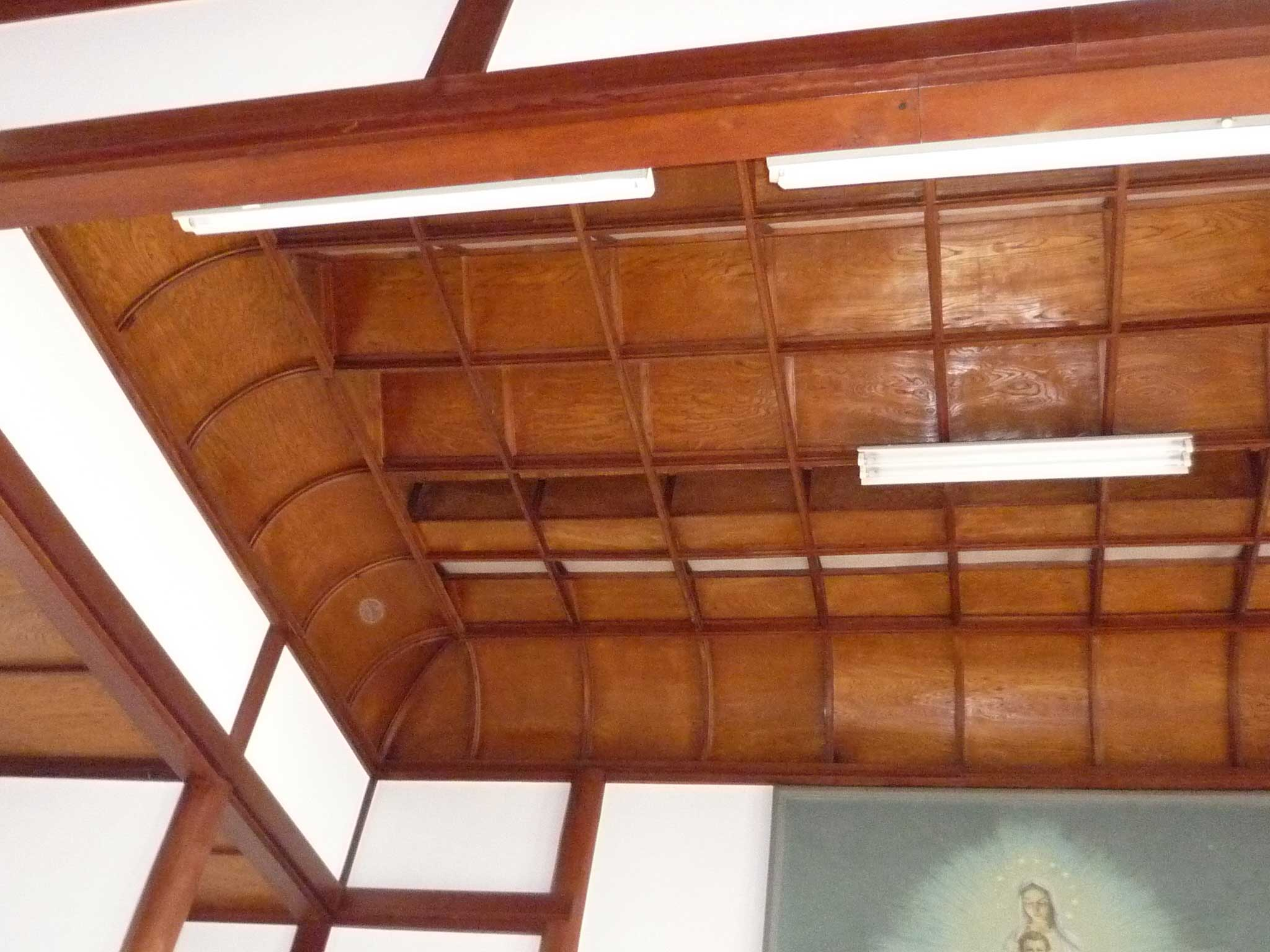 <p>祭壇上方的重畳天井</p>