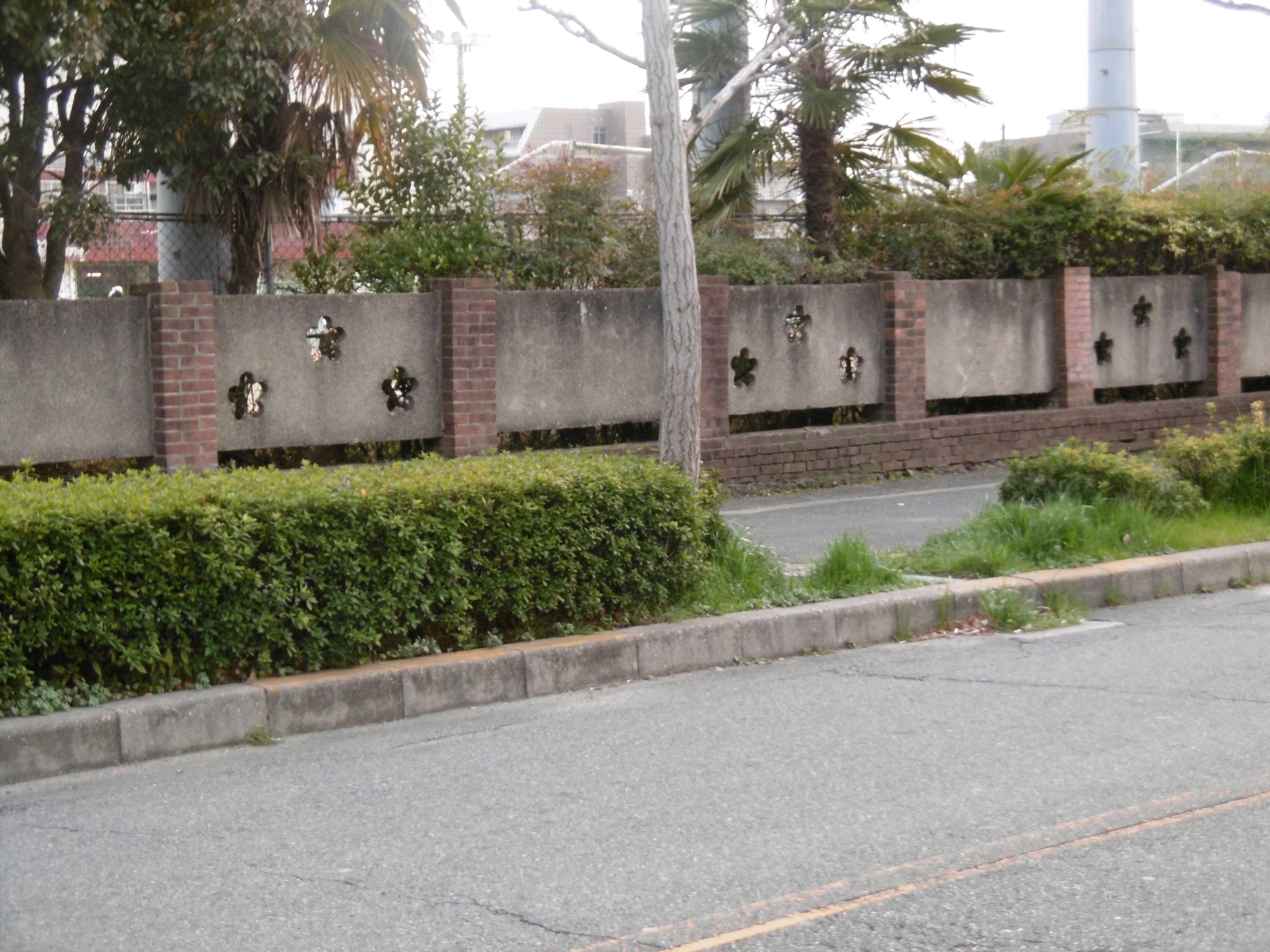 <p>北辺東側の塀</p>